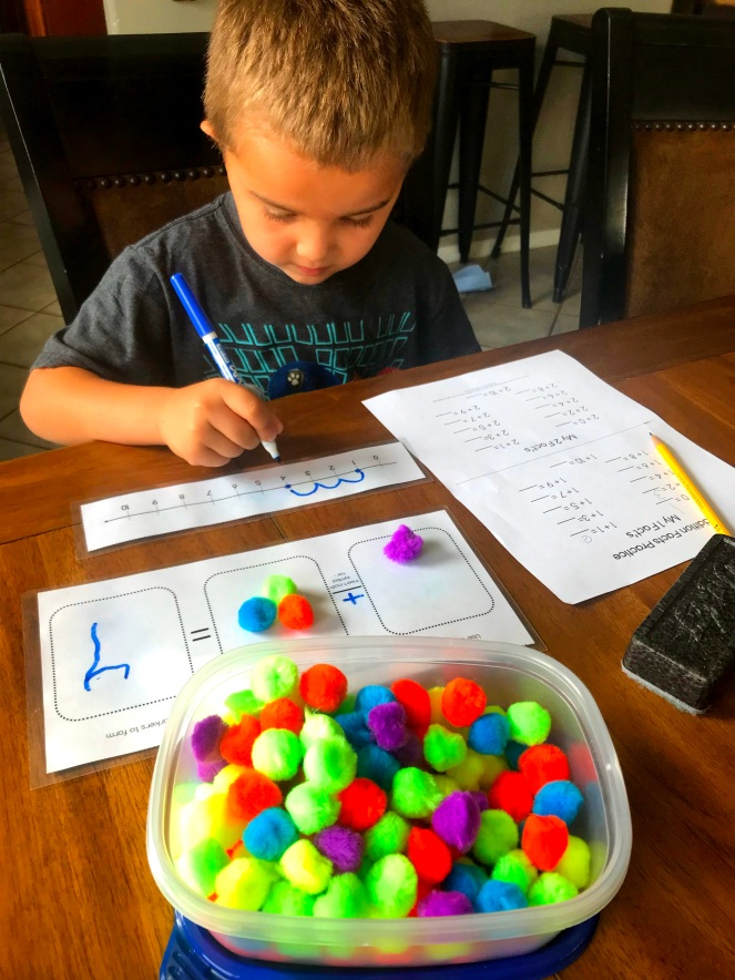 math facts and number line